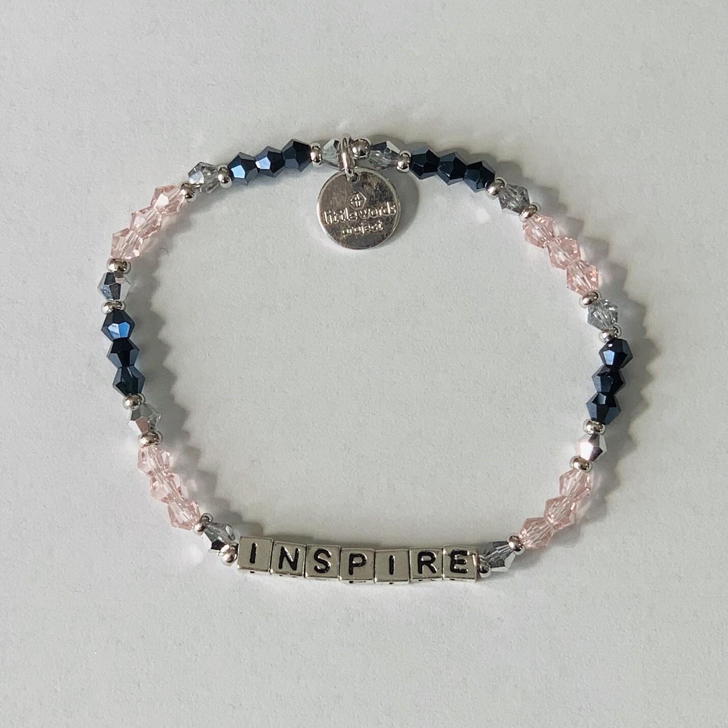 Little Words Project Silver INSPIRE Bracelet