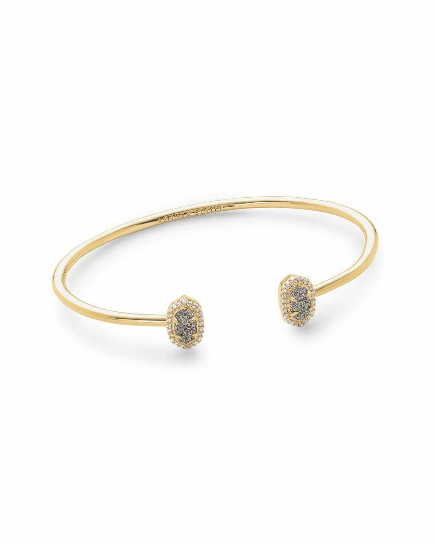 Kendra Scott Calla Gold Cuff Bracelet In Platinum Drusy