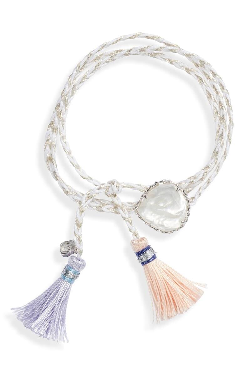 Kendra Scott Kenzie Silver Wrap Bracelet in Mother-of-Pearl