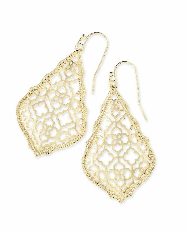 Kendra Scott Addie Gold Drop Earrings In Gold Filigree