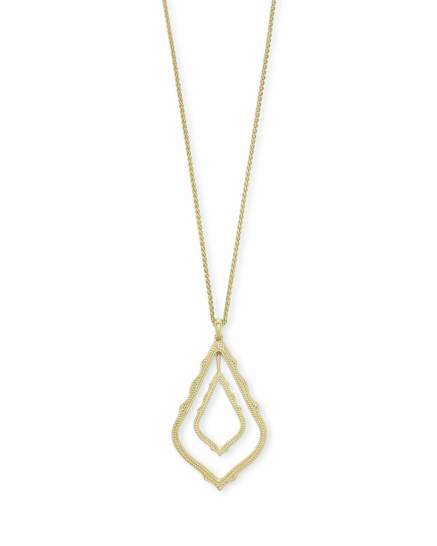 Kendra Scott Simon Long Pendant Necklace In Gold