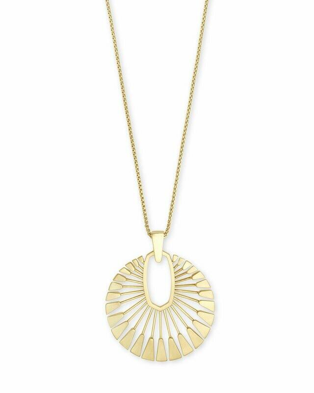 Kendra Scott Deanne Long Pendant Necklace In Gold