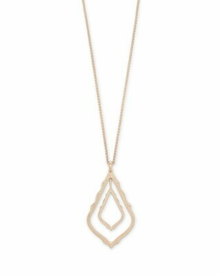 Kendra Scott Simon Long Pendant Necklace In Rose Gold