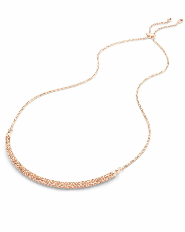 Kendra Scott Goldie Rose Gold Choker Necklace In Rose Gold Filigree