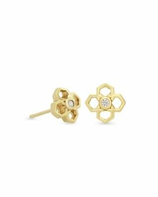 Kendra Scott Rue Stud Earrings In Gold