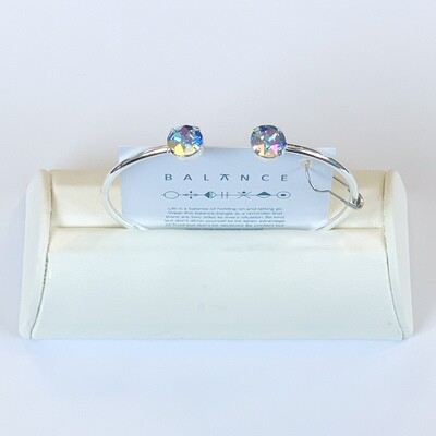 Balance Bracelet Silver/Aqua Transmission