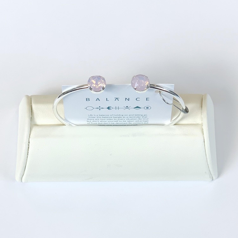 Balance Bracelet Silver/Frosted Pink