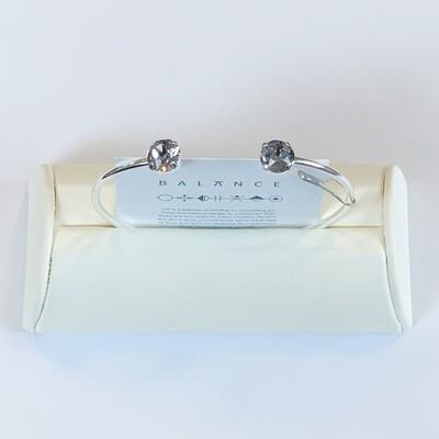 Balance Bracelet Silver/Smoky Mauve