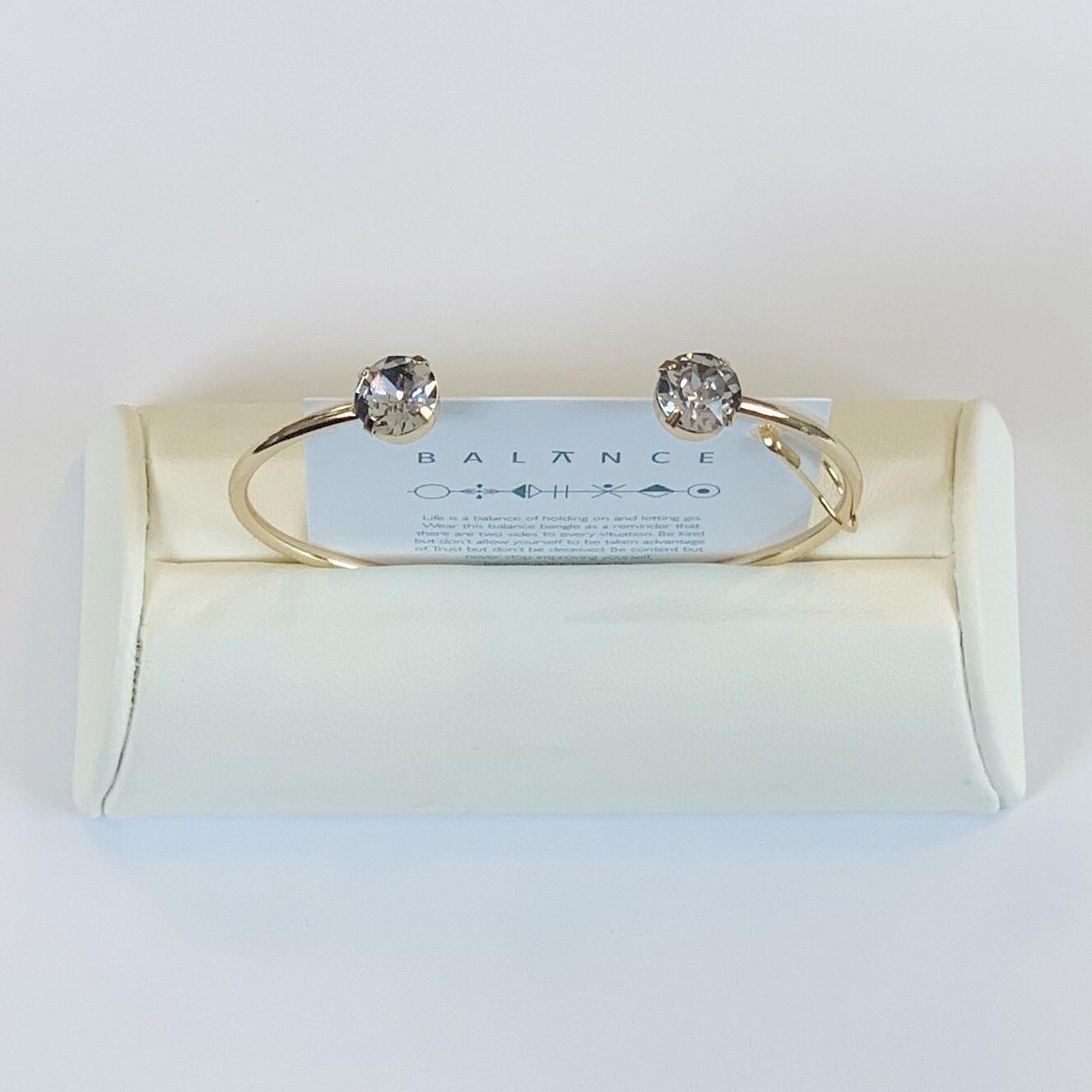 Balance Bracelet Gold/Smoky Mauve