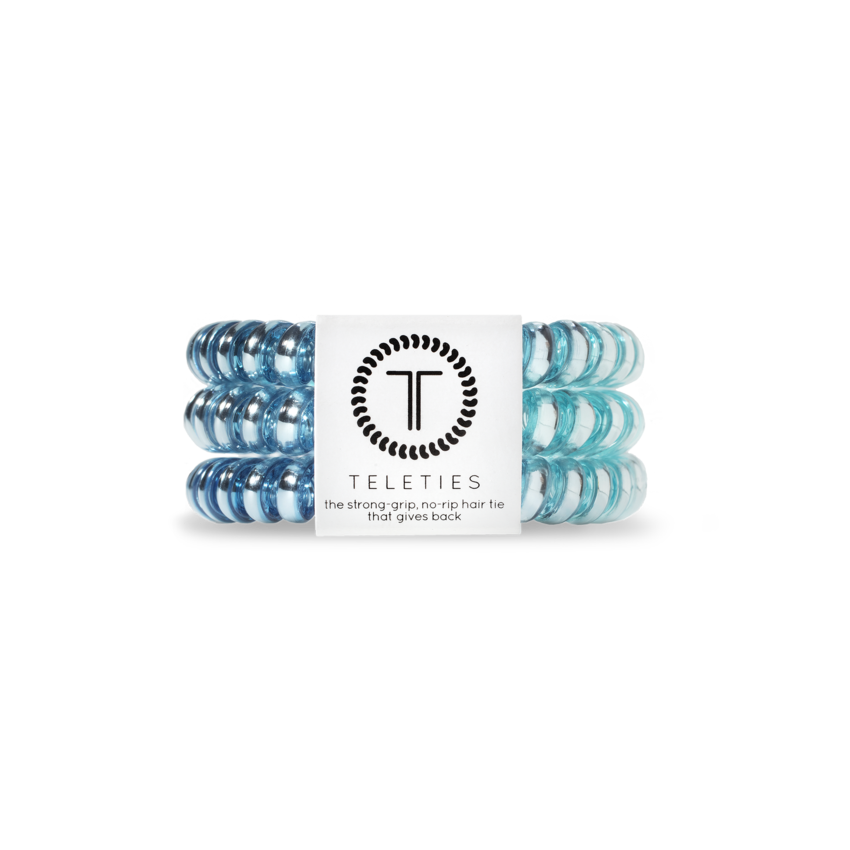 TELETIES Small Hair Ties, Blue Sapphire