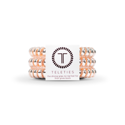 TELETIES Small Hair Ties, Millennial Pink