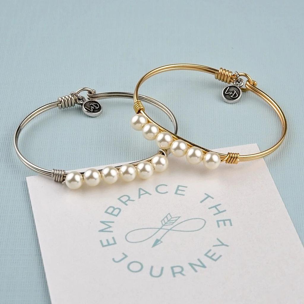 Luca + Danni Classic White Pearl Bracelet