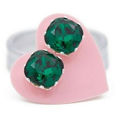 JoJo Loves You Emerald Cushion Blings