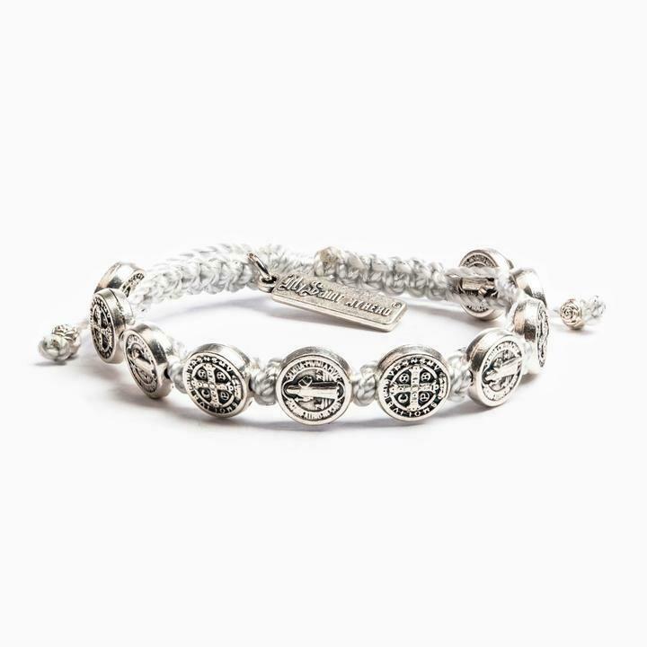 MSMH Benedictine Blessing Bracelet (Silver/Metallic Silver)