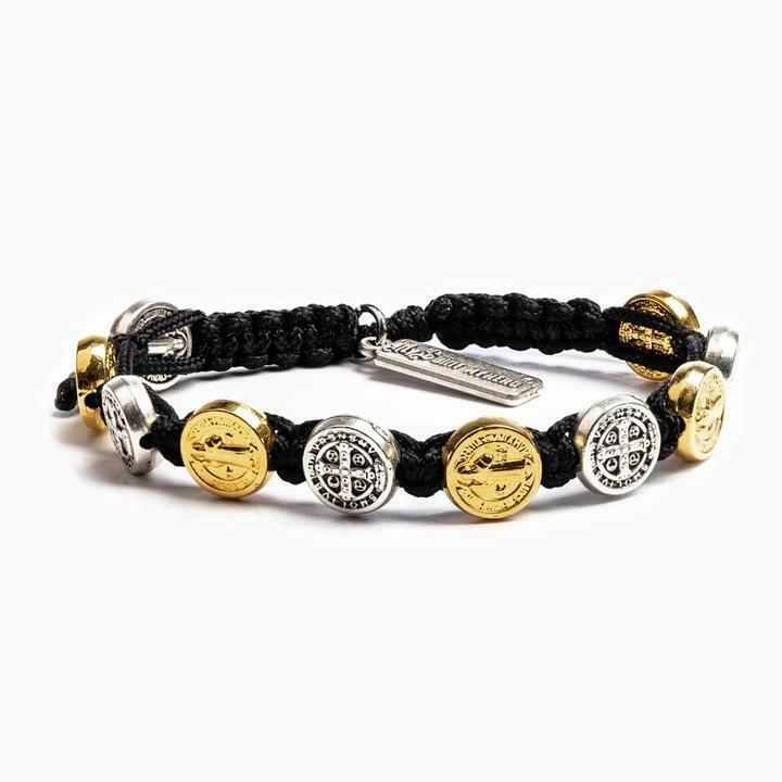 MSMH Benedictine Blessing Bracelet (Mixed Metal/Black)