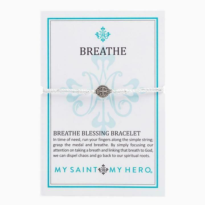 MSMH Breathe Blessing Bracelet (Silver/Metallic Silver)