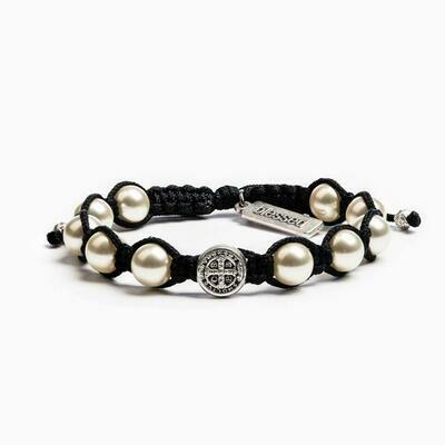 MSMH Divine Blessings Bracelet (Silver/Black)