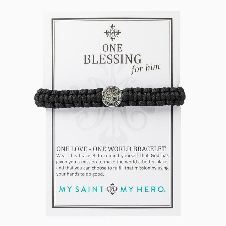 MSMH One Blessing Bracelet For Him (Silver/Black)