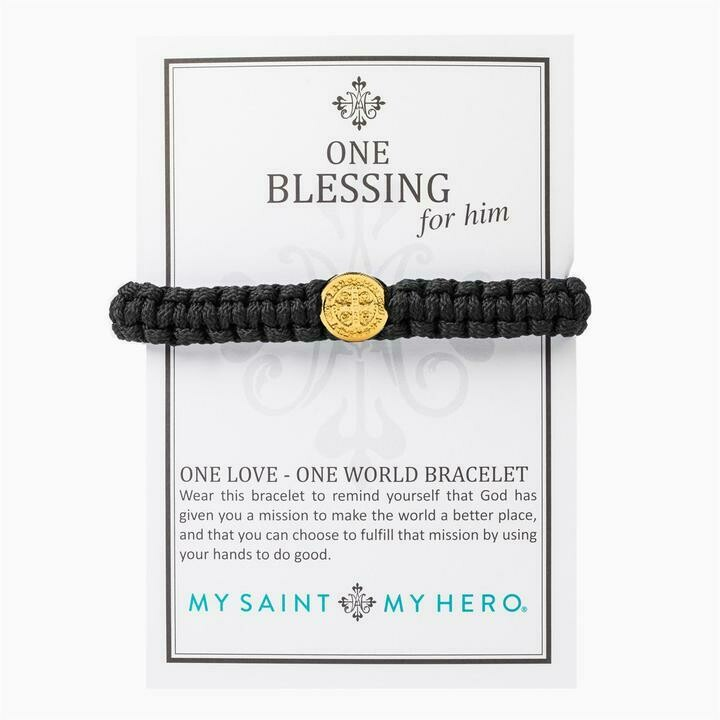 MSMH One Blessing Bracelet For Him (Gold/Black)