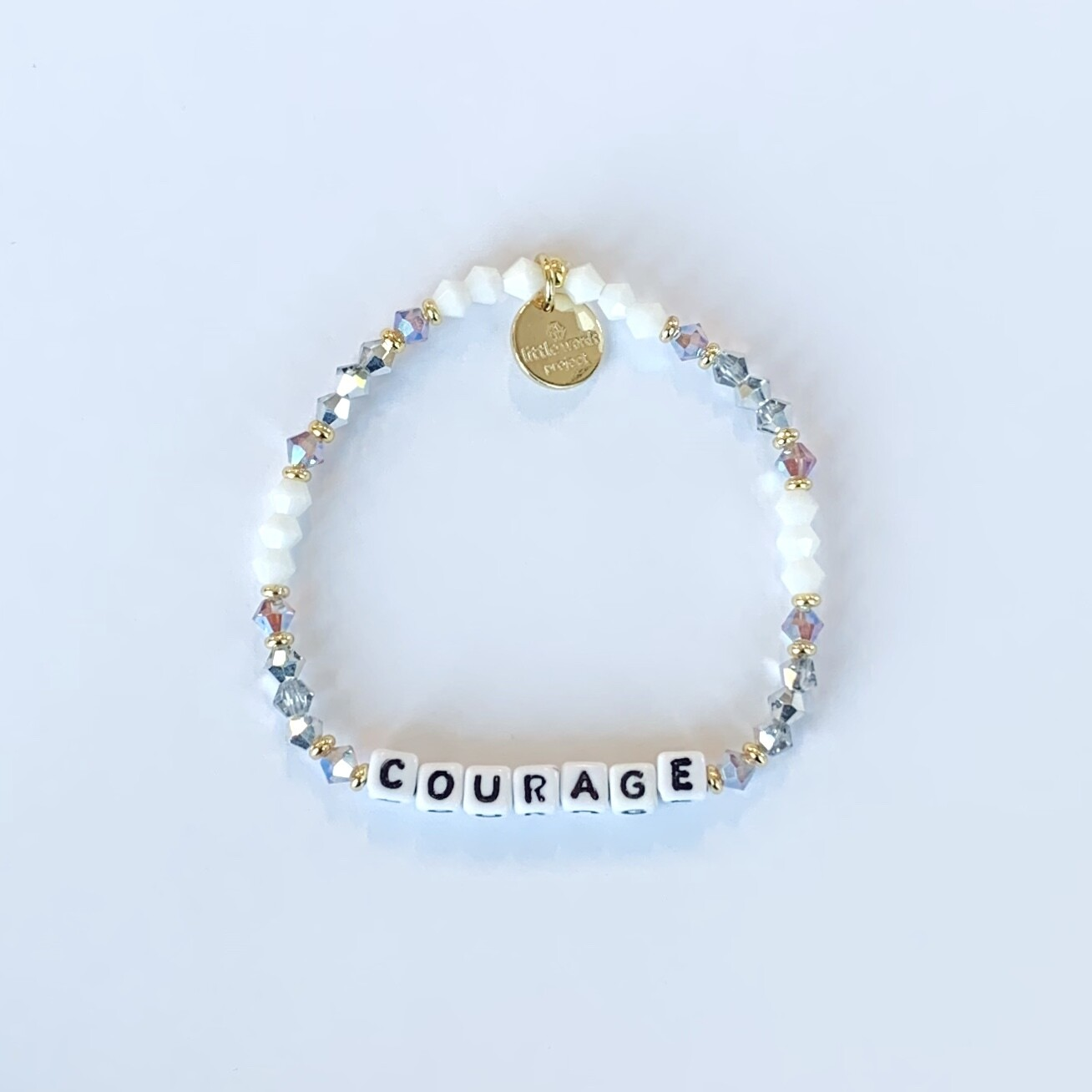 Little Words Project White COURAGE Bracelet
