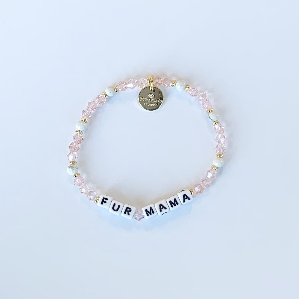 "Little Words Project White ""FUR MAMA"" Bracelet"