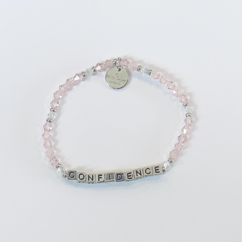 Little Words Project Silver CONFIDENCE Bracelet