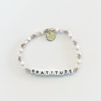 Little Words Project White GRATITUDE Bracelet