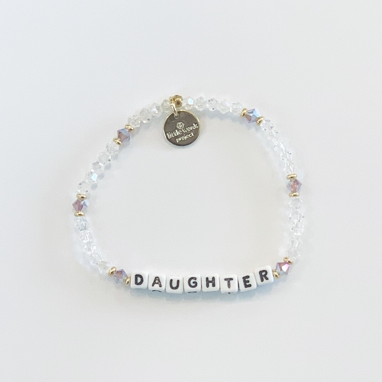 Little Words Project White DAUGHTER Bracelet