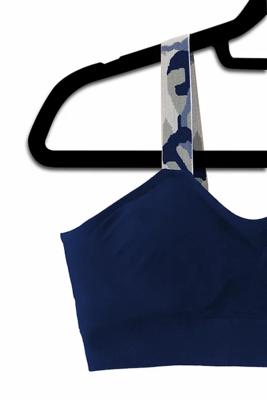 Navy Blue-Camo Bralette