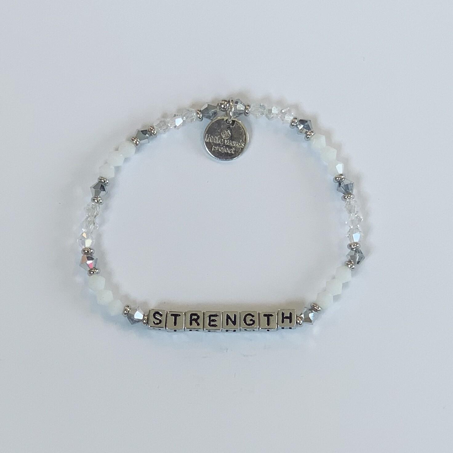 "Little Words Project Silver ""STRENGTH"" Bracelet"
