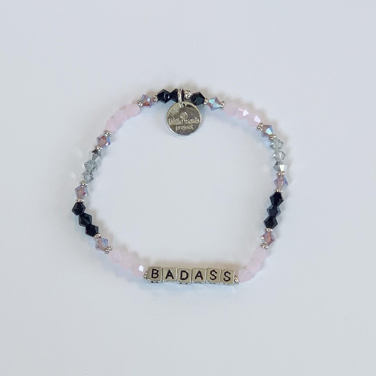 "Little Words Project Silver ""BADASS"" Bracelet"