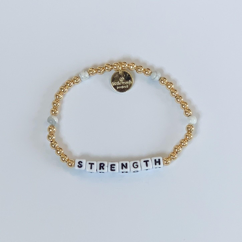 "Little Words Project Gold-Filled ""STRENGTH"" Bracelet"