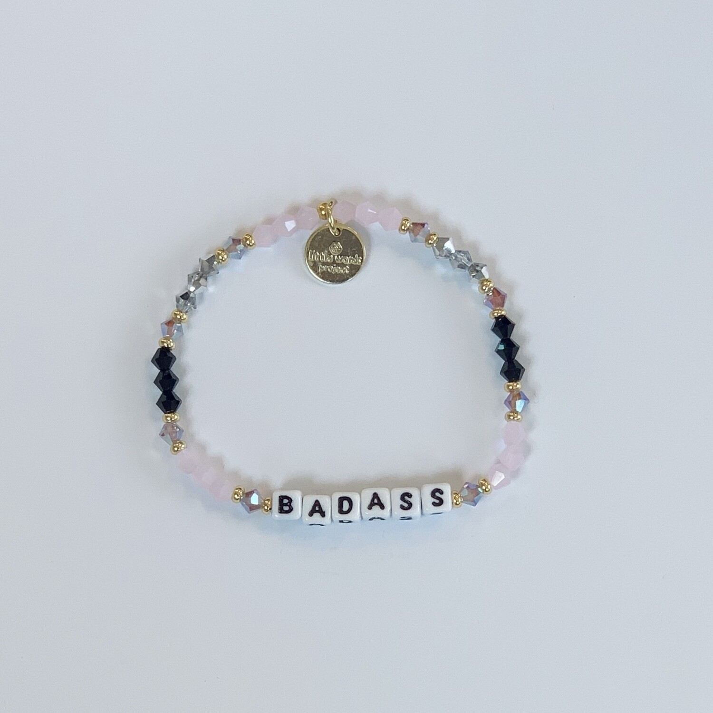 "Little Words Project White ""BADASS"" Bracelet"
