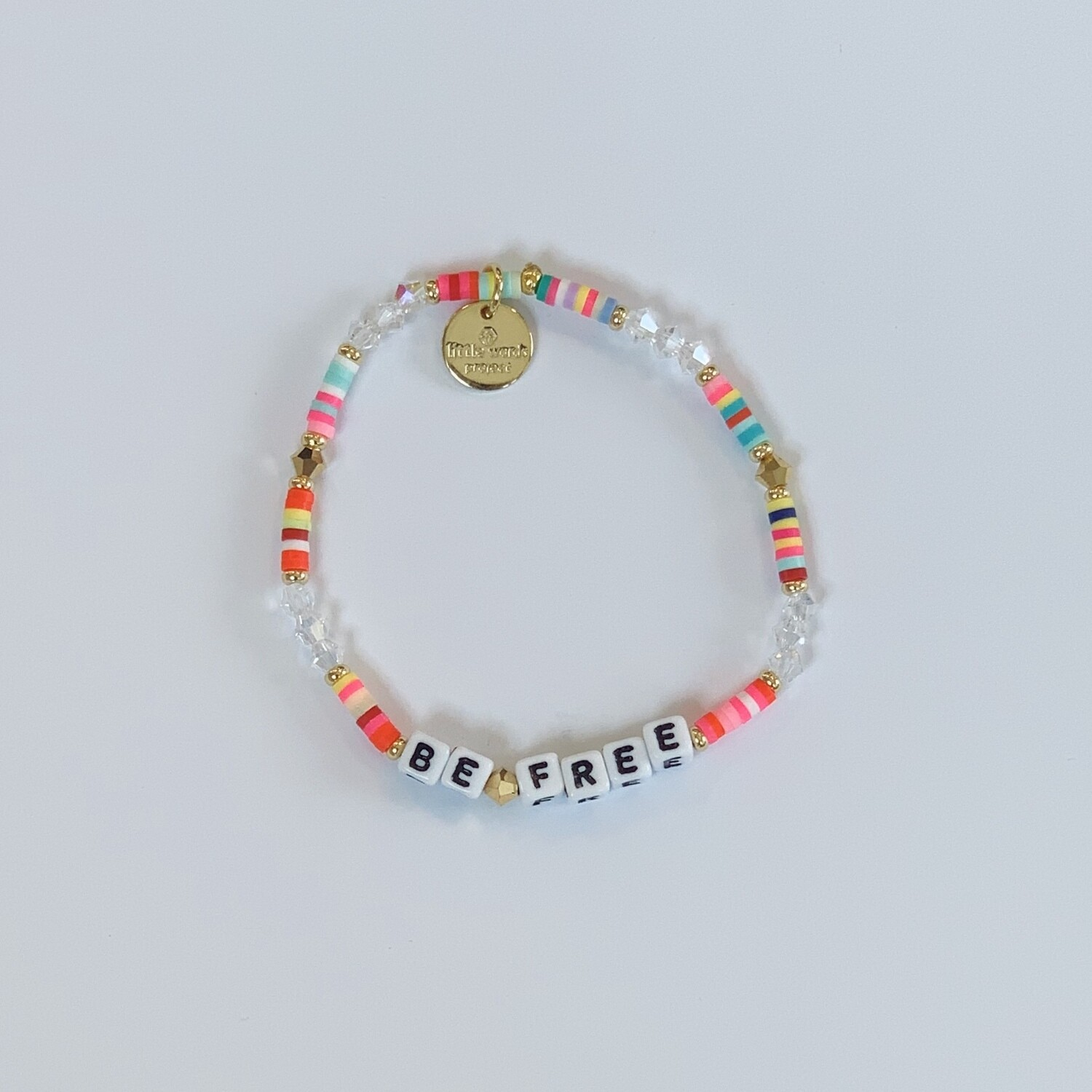 "Little Words Project White ""BE FREE"" Bracelet"