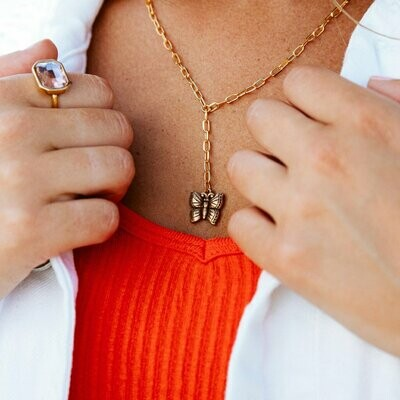 Luca + Danni Butterfly Lariat Necklace