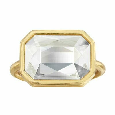 Luca + Danni Clear Crystal Dylan Cocktail Ring (Gold)