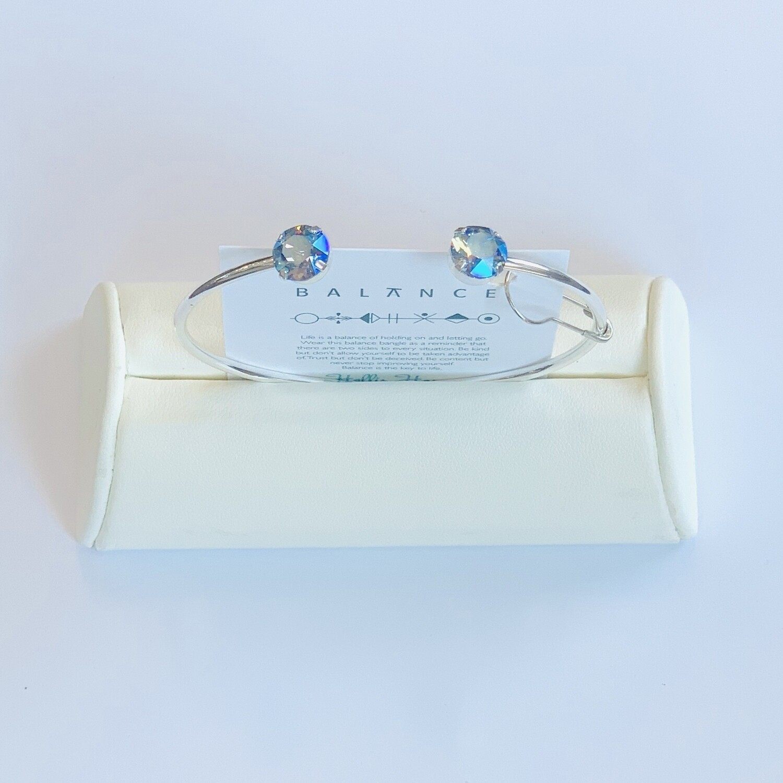 Balance Bracelet Silver/Light Sapphire Shimmer