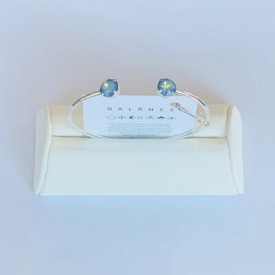 Balance Bracelet Silver/White Opal Starshine