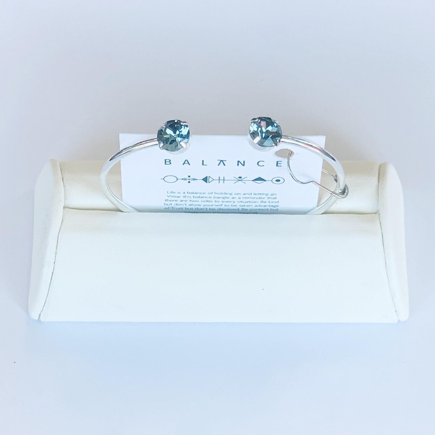 Balance Bracelet Silver/Indian Sapphire