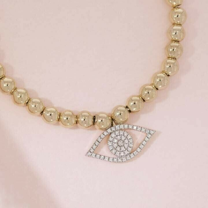Ella Stein Evil Eye Beaded Bracelet (Gold)