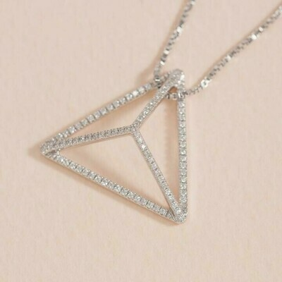 Ella Stein Prismatic Necklace (Silver)