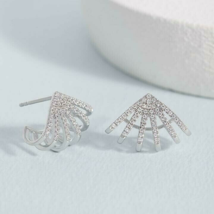 Ella Stein Branch Out Earrings (Silver)