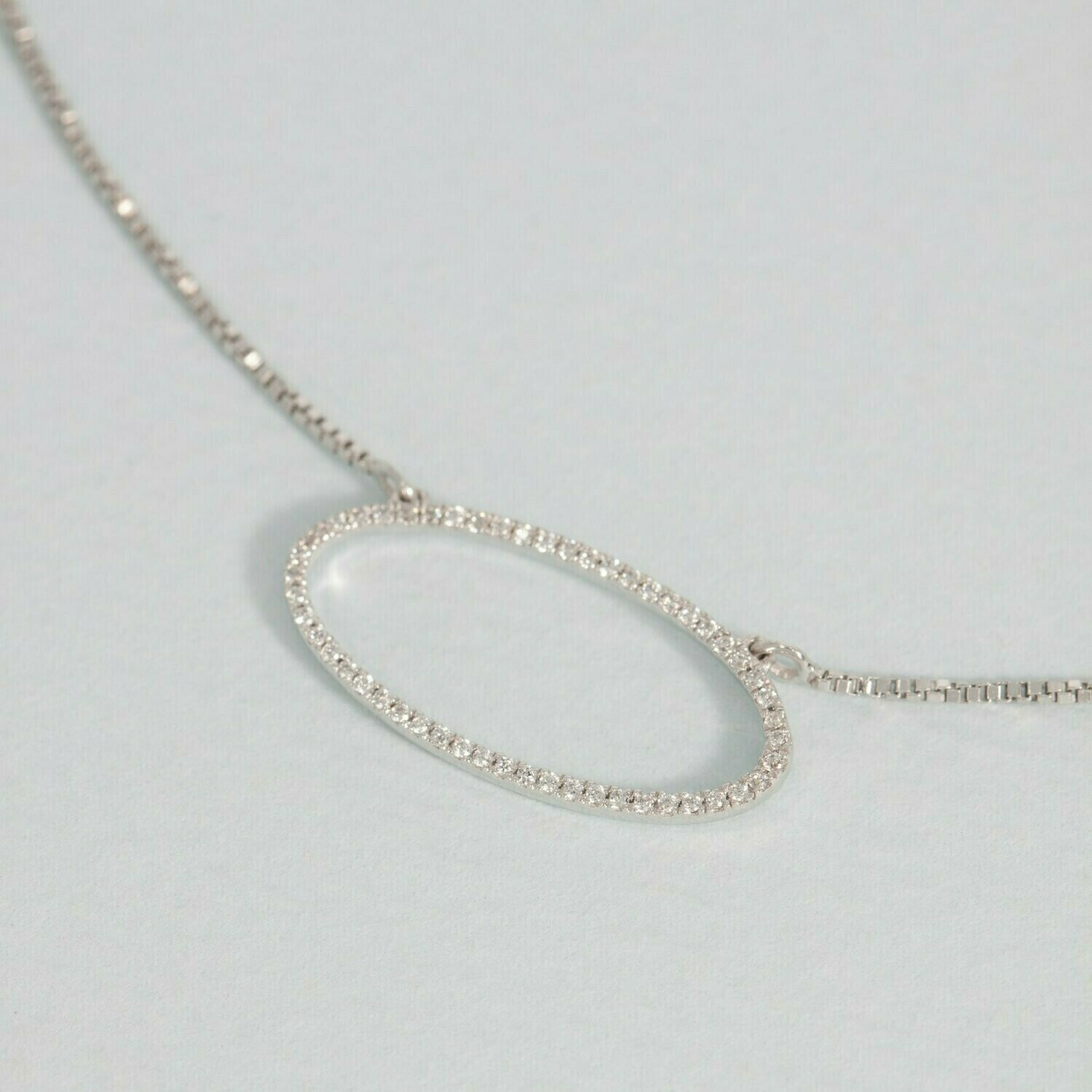 Ella Stein One With the Oval Necklace (Silver)