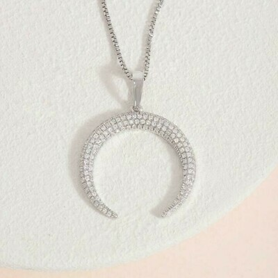 Ella Stein Horn Necklace (Silver)