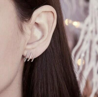 Ella Stein Chart Your Course Earrings (Silver)