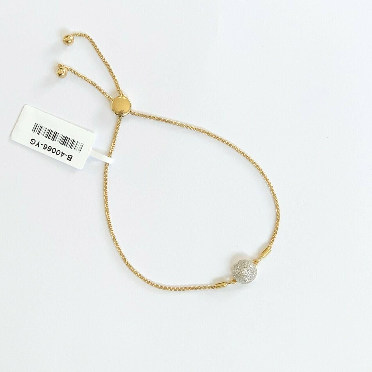 Ella Stein Domed Disc Bolo Bracelet (Gold)