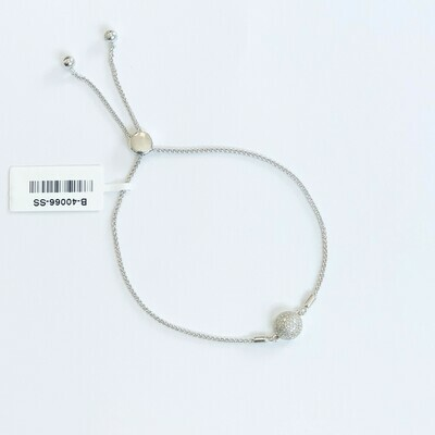 Ella Stein Domed Disc Bolo Bracelet (Silver)