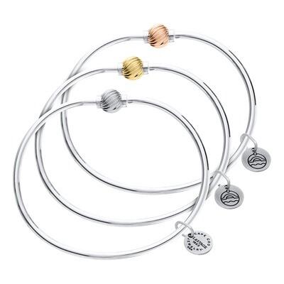 Single Swirl Ball Cape Cod Bracelet