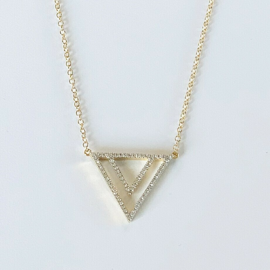 Ella Stein Two By Triangle Necklace, Gold