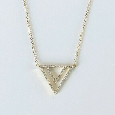 Ella Stein Two By Triangle Necklace (Gold)